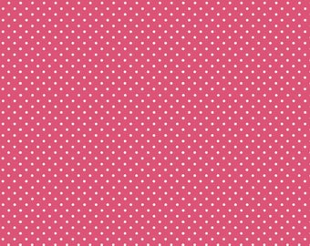 COTTON FABRIC Pink Dot - Makower UK 100% premium cotton