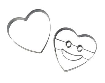 Mason Cash Stainless Steel Smiley Face Heart Cookie Biscuit Cutter Jam Sandwich