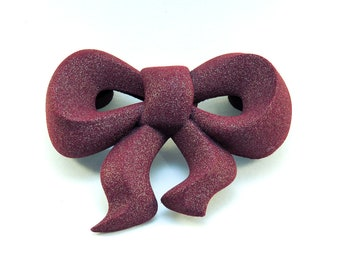 Magnetic Bow Brooch