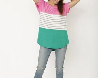 Colorblock Striped Tunic
