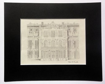 Versailles Pencil Drawing