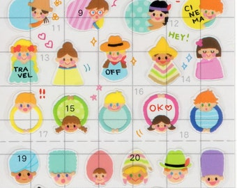 Japan Mind Wave kawaii CHILDRENS FRAME Schedule sticker sheet/75903