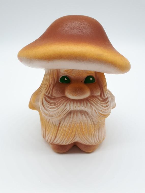 Vintage Mushroom Toy Rubber Toy Soviet Toy Bath Toy