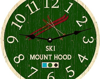 Ski Clock-Personalized Ski Clock