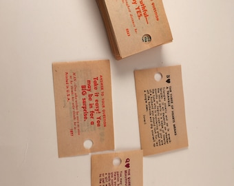 Vintage Swami Cards from 1950s Carnival Game