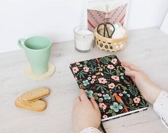 Tropical birds - Handmade notebook