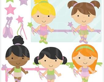 ballet clipart girls kids clip art digital - Ballet Girls Digital Clip Art - BUY 2 GET 2 FREE