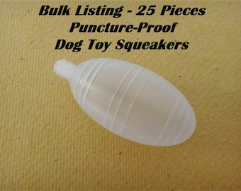 25 Squeakers Bulk Listing - Puncture-proof Dog Toy Squeaker - Squeaker Toy Replacements - Baby Toy Squeakers
