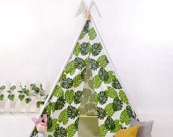 kids teepee with poles,teepee tent,childrens tipi,children's teepee,kids play tent