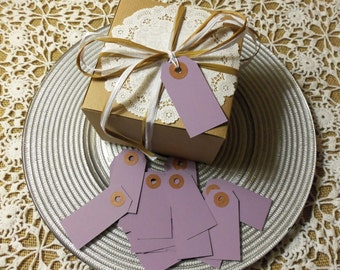 "Lavender Tags, Purple Tags, 100 LAVENDER Tags,  Small, 2 3/4"" x 1 3/8"" - Gift, Parcel, Wish Tags, Blank"