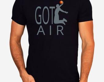 Basketball Player Fan Got Air Men's Black T-Shirt / White Tee