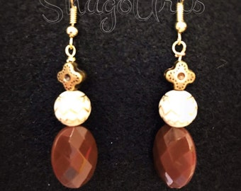 Antique brown earrings