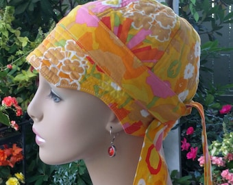 Women's Chemo Hat SALE Alopecia Hat Hair Loss Hat Reversible  MEDIUM