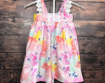Girls Easter Dress, Easter Dress, Girls Dress, Baby Easter Dress, Baby Girls Floral Dress, Baby Girls Lace Dress, Girls Dress, Summer dress