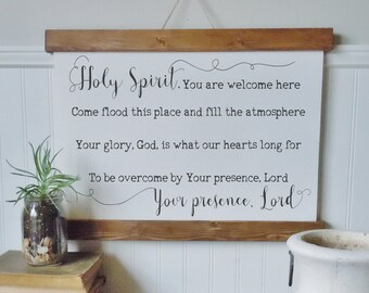 Holy spirit you are welcome here/canvas wall art/christian art/wall art