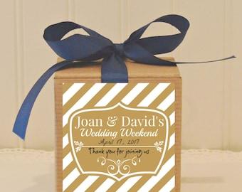 Favor Box, 12 Gold Wedding Favor Boxes, Gold Wedding Favors, Bridesmaid Gifts, Wedding Favor, Personalized Favor Box, Custom Wedding Favors