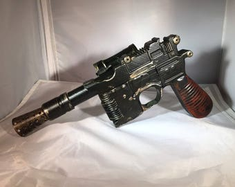 Han Solo Blaster Prop Replica 1:1 DL-44 Star Wars Weathered cosplay prop
