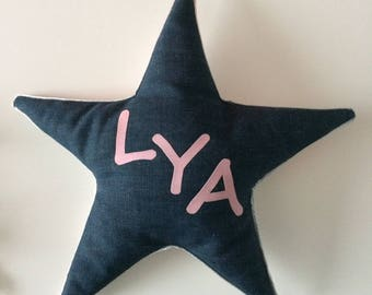 Personalized star cushion