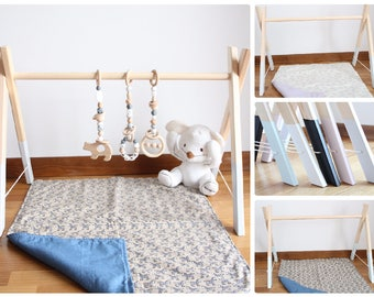 Baby wooden gym / Stylish nursery decor / Activity center / Choose color / Just wooden gym