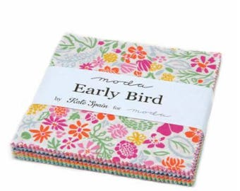 Early Bird Charm Pack by Kate Spain for Moda Fabrics - IN STOCK