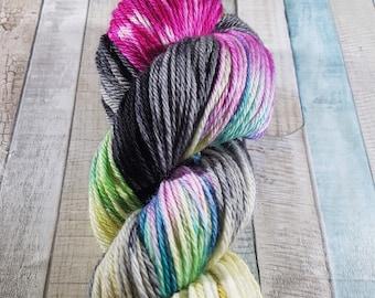 "Hand Dyed, Superwash, Merino Nylon, DK Yarn, 100g, ""Colouring Pencils"", yarn, knitting, crochet, socks, knit, dk"