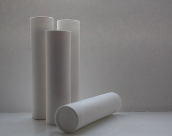 Tube vase made out of stoneware English fine bone china - bud vase