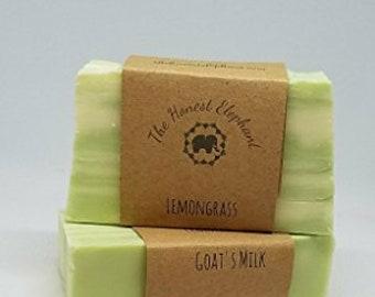 The Honest Elephant Handmade, Goat's Milk Lathering Soap Bar - Lemongrass | FREE SHIPPING!