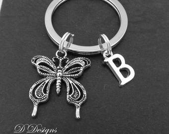 Butterfly Keyring, Butterfly KeyChain,  Insect Key Chain, Insect Keyring, Personalised Keychain, Butterfly Gifts