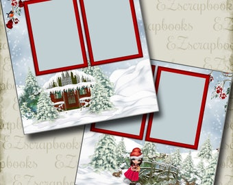 CHRISTMAS CUTIE - 2 Premade Scrapbook Pages - EZ Layout 2837