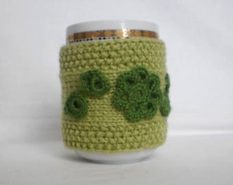 Knit Tea Cup Cozy Knit Mug Cozy Warm cup knitted cup holder cup heater cup sleeve handheld heater cozy coffee knitted mug is cozy