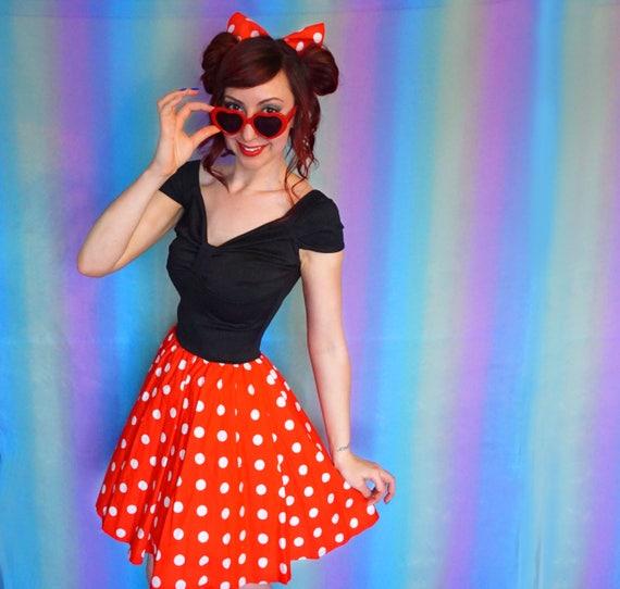 Minnie Mouse Dress - Disneybound Dress - Minnie Dress - Red Polka Dot Dress - Rockabilly 50s Dress - Adult Dress - Minnie - Dapper Day