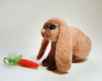 Needle Felted Lop Rabbit, Lop Ear Bunny Rabbit, French Lop Rabbit, Lop Bunny Toy, Needle Felted Lop Bunnies, Lop Rabbits Felted Toy