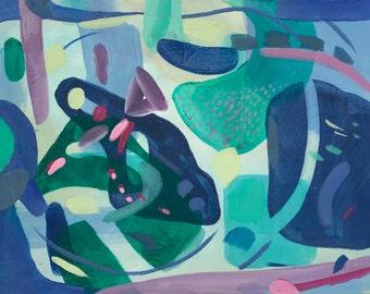 Abstract Painting Original Art Acrylic