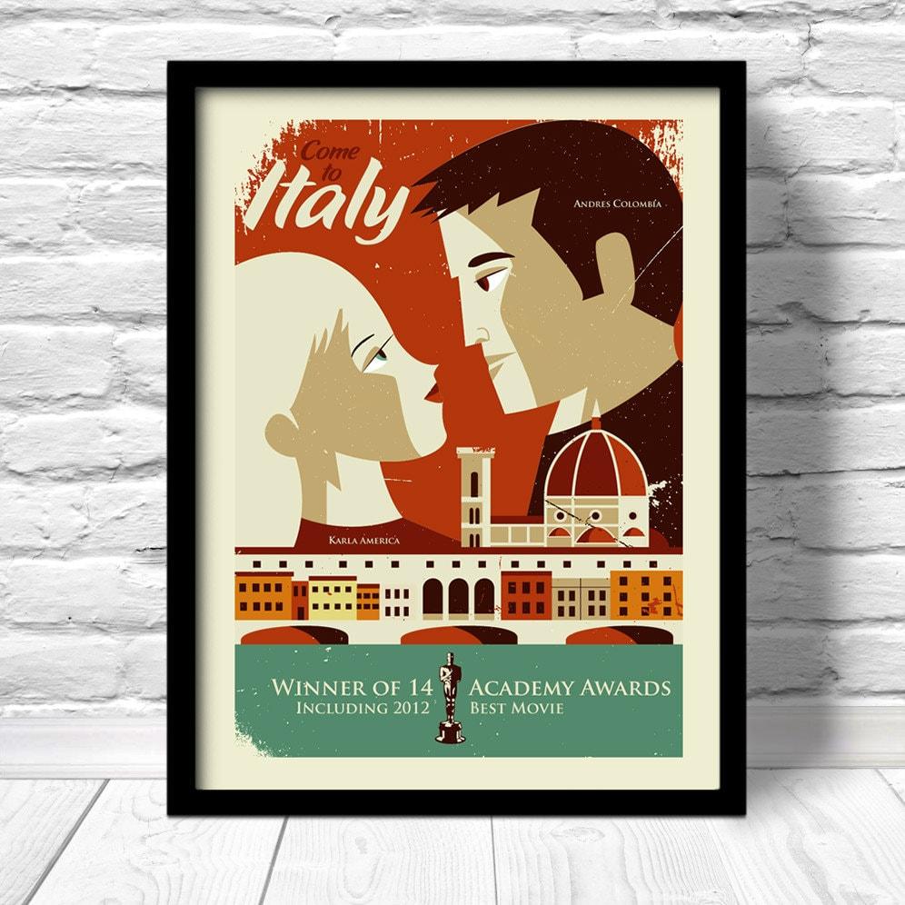 Custom Movie Poster Personalized Love Story Print 100