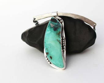 McGinnis Turquoise Pendant Necklace. Silver Turquoise Pendant. American Turquoise. Genuine Turquoise. Unique Turquoise. Natural Turquoise