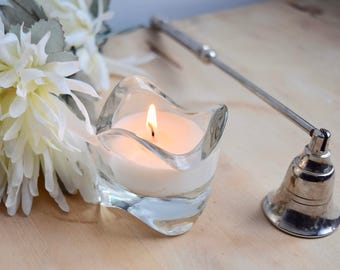 Handmade scented soy candle in Ikea glass container