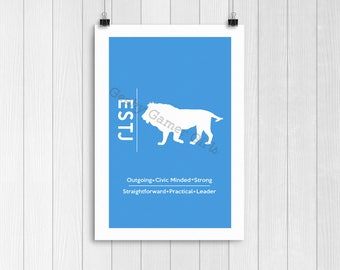 """ESTJ Minimalist Poster 