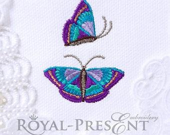 Machine embroidery designs Purple Butterflies