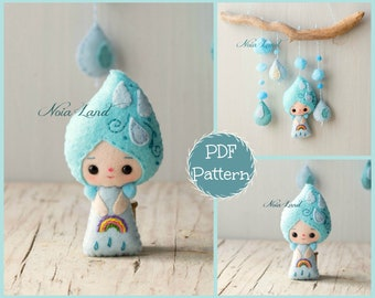 Raindrop. Baby mobile (PDF Pattern)