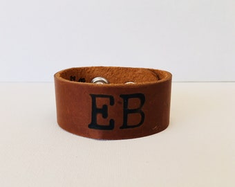 Edisto Beach Leather Cuff Bracelet