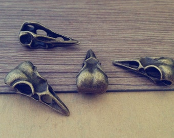 10pcs Antique bronze bird head Pendant charm 14mmx31mm