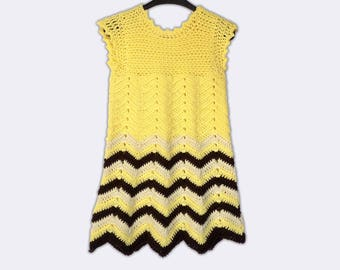 Hand Knitted Dress Up Clothes Baby Crochet Frock Yellow Baby Dress Baby Fancy Dress Crochet Baby Frock Fancy Baby Dress Summer Baby Dress