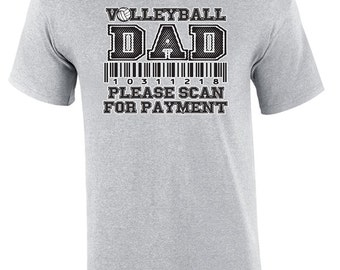 Volleyball Dad Scan - Volleyball T-shirt