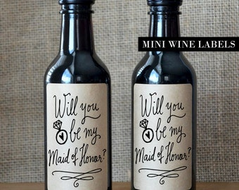 Will you be my Maid of Honor Wine Label - Maid of Honor Proposal Wine Label
