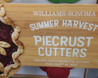 Williams Sonoma Summer Harvest Piecrust Cutters Set Of 4