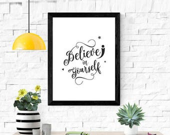 Inspiration Quote Wall Poster Digital Download