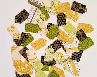 Lemon Lime Mini Tag Mix, Yard Sale Tag, Craft Show Tag, Bake Sale Tag, Price Tag, Jewelry Price Tag, Swing Tag, Hang Tag