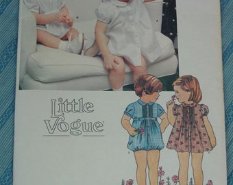 Vintage Pattern c.1970's Little Vogue No.2152 Dress,Panties,Romper, Size 4 Uncut