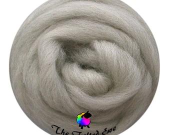 Needle Felting Wool Roving / ES25 Coastal Fog Carded Wool Sliver