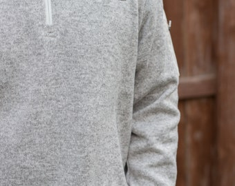 Monogrammed Men's Charles River 1/4 Zip Sweater Fleece
